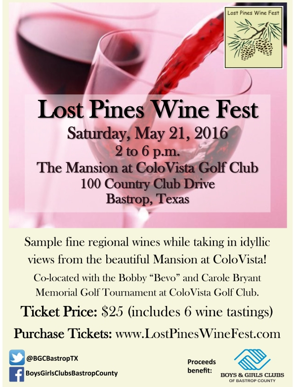 2016 Lost Pines Wine Fest